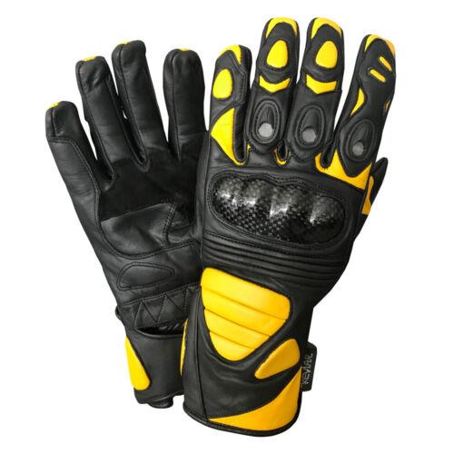 Leather Motorcycle Street Racing Biker Reflective Gloves
