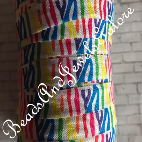 Zebra foe inspired zebra elastic zebra hair ties rainbow zebra foe animal fo-5//8