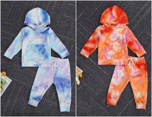 NEW Tie Dye Girls Long Sleeve Dress 18M 2T 3T 4T 5T