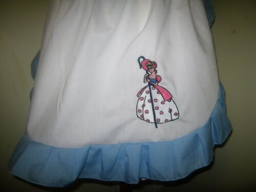 GIRLS LITTLE BO PEEP COSTUME APRON /& MOP TOP HAT M2O All Sizes and color