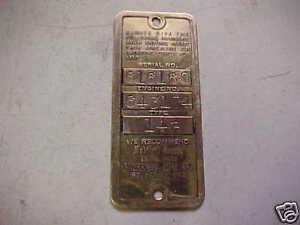 Old-Briggs-amp-Stratton-Gas-Engine-Brass-Serial-Tag-14