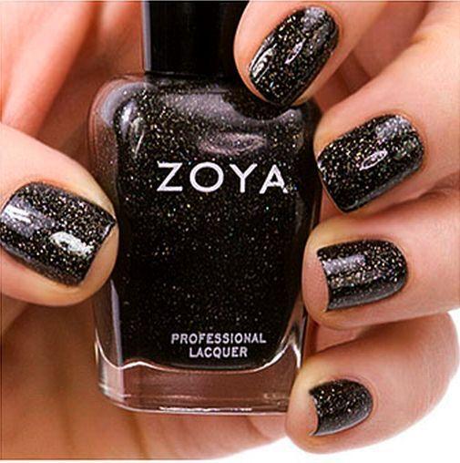 Zoya Zp645 Storm Holiday Black Glitter Nail Polish Lacquer Festive ...