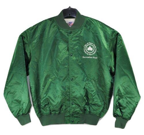 Vintage Game Sportswear Men Green XL Bomber Jacket