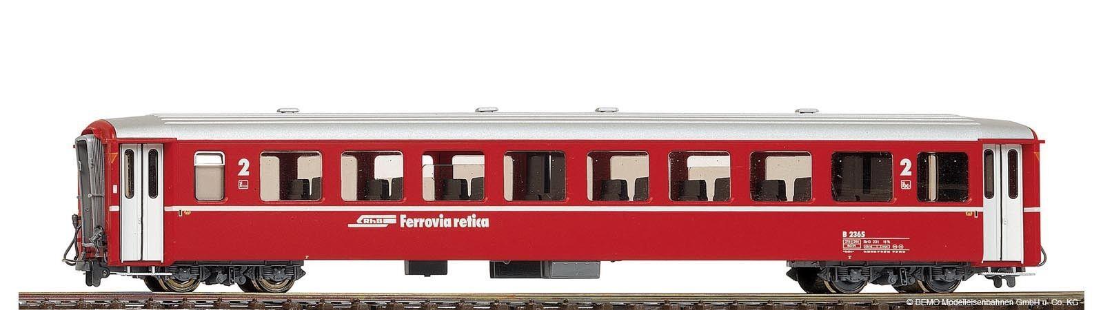 BEMO-h0m - 3250130 carreggiata stretta-Vagoni ew1 2.kl.b2370 RHB ROSSO