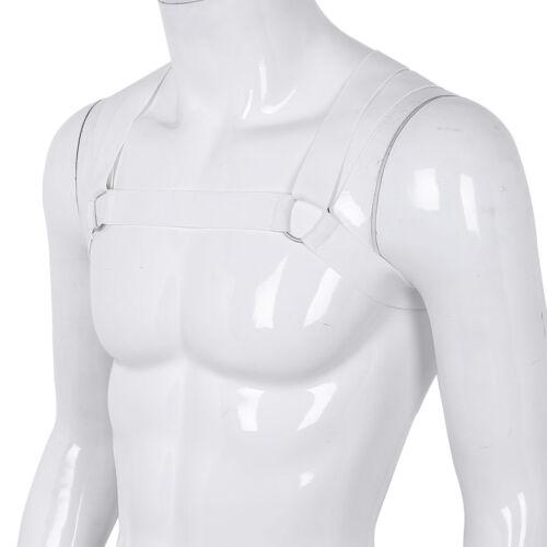Men Elastic Straps Body Chest Harness O-rings Clubwear Costume Fancy Belt Straps