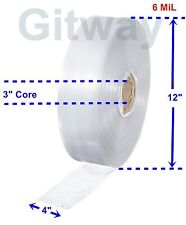 4 X 725 Clear Poly Tubing Tube Plastic Bag Polybags Custom Bags On A Roll 6ml