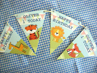 PERSONALISED HAPPY BIRTHDAY BUNTING - 2.5M LENGTH - ANY AGE-ANY COLOUR FONT