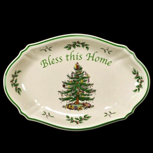 Spode Christmas Tree Sale: Spode Christmas Tree Plate Santa Claus 1938 Backstamp