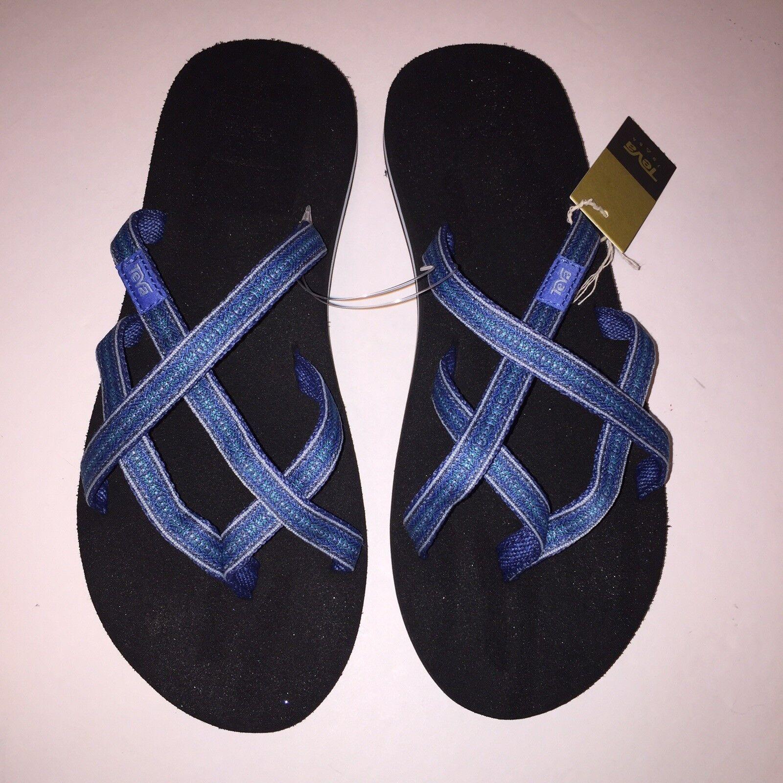 24afe6027656 Teva Olowahu Womens Flip Flops Shoes Pintado Blue 9 M for sale ...