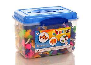 1250 Pièce Hexiflex Megamix Set Flexible 3d Puzzle Art Jigsaw Puzzles Handicap Structurel
