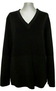COS-BLACK-V-NECK-SWEATER-L-165