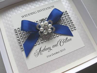 Luxury Wedding Invitations - Pearls & Diamante Bling - With / Without Box
