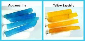 480 Carat 8 Pcs Yellow Sapphire & Aquamarine Natural Gemstone Slice Rough Lot