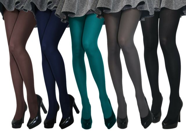 NEW LADIES 70 DENIER OPAQUE TIGHTS WOMEN 3 COLOURS /& ALL SIZES S-M-L-XL