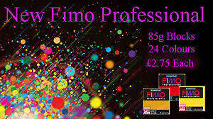 FIMO Soft 56g Polymer Clay 30 Colours 5cm x 5cm Modelling Jewellery Craft Art