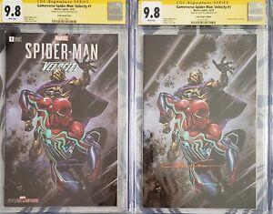 Gamerverse-Spider-Man-Velocity-1-trade-and-virgin-set-9-8-CGC-SS-Crain-W-COAs