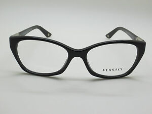 191a690c663 NEW Authentic VERSACE Mod. 3170-B GB1 Shiny Black 54mm RX Eyeglasses ...