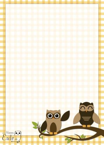 4 Schreibblöcke Eulen braun A6 50 Blatt Miniblock Notizblock Eule Blöcke owls