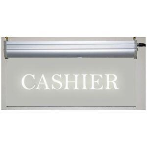 Cashier LED Sign - Clear Plexiglass