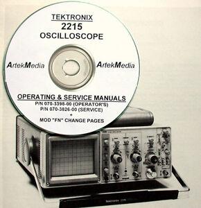 tek tektronix 2215 oscilloscope operating service manuals 2 vol ebay rh ebay com sg tektronix oscilloscope 2215a manual tektronix 2215 user manual