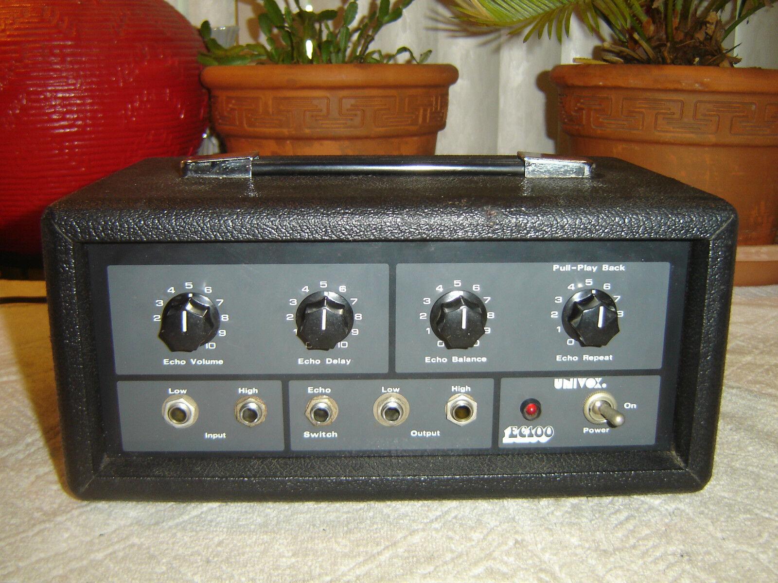 Univox EC100, Tape Echo Delay, with TC-1 Tape, Vintage Unit, As Is