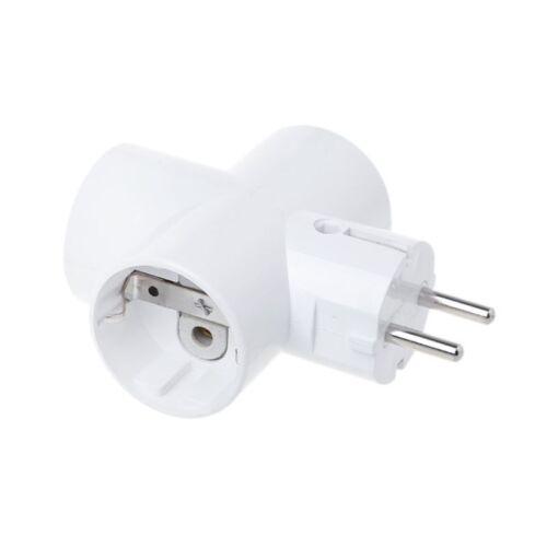 EU Standard Convert Socket With 3 Outlets Ceramics Travel Power Adaptor