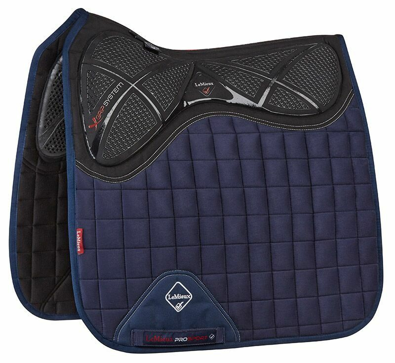 LeMieux Twin X-GRIP Sided X-GRIP Twin Silicone Suede DRESSAGE Memory Foam Square All Colours dbec3b