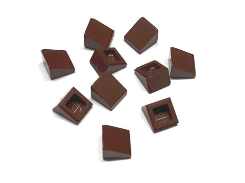 4504376 Lego Dachstein 1x1x2//3 Rotbraun 10 Stück