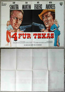 Original-Filmplakat-Vier-fuer-Texas-Frank-Sinatra-Dean-Martin-EA-1964