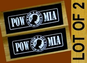 2-POW-MIA-YOU-ARE-NOT-FORGOTTEN-MILITARY-VIETNAM-WAR-Biker-Helmet-Sticker-LOT