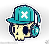 Skull And Headphones Music Beats Sticker Decal Car Laptop Scrapbook