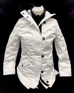 d6128e54cb3 Details about Ugg Australia Adirondack Parka 1017640 Toscana Hooded 3 in 1  Removeable Vest WHT