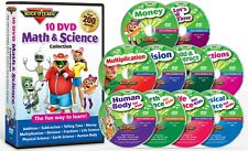 Rock N Learn 10 DVD Math & Science Collection Addition Subtraction Money
