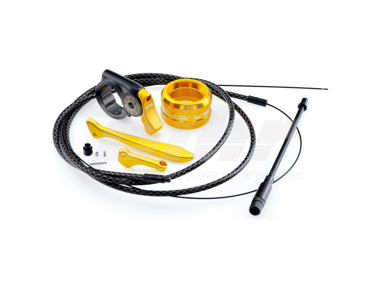 Ks Kit  Inserts gold + Cable for Seatpost Telescopic Ø 30.9 mm MTB Bike Oif  simple and generous design