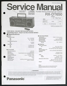 image is loading panasonic-rx-dt650-original -stereo-component-system-service-