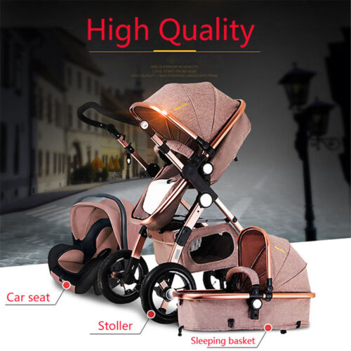 3in1 Luxury Baby Stroller with Car Seat For Newborn High View Folding Carriage*