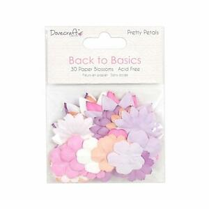 PRETTY-PETALS-30-Paper-Blossoms-Flower-Heads-Card-Making-Craft-Embellishments