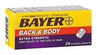 Bayer Back & Body Extra Strength 24 Coated Caplets Each