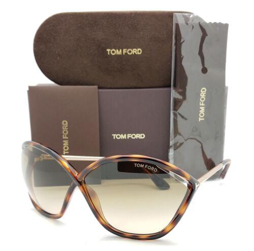 New Tom Ford Bella sunglasses FT0529//S 53F 71mm Havana Brown Gradient AUTHENTIC