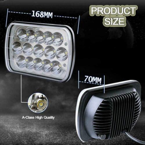 2PCS 7X6 5X7/'/' LED Headlight For Ford E-150 E-350 F-250 Super Duty Ranger GT