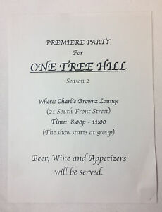 ONE-TREE-HILL-set-used-SEASON-2-PREMIERE-PARTY-FLIER
