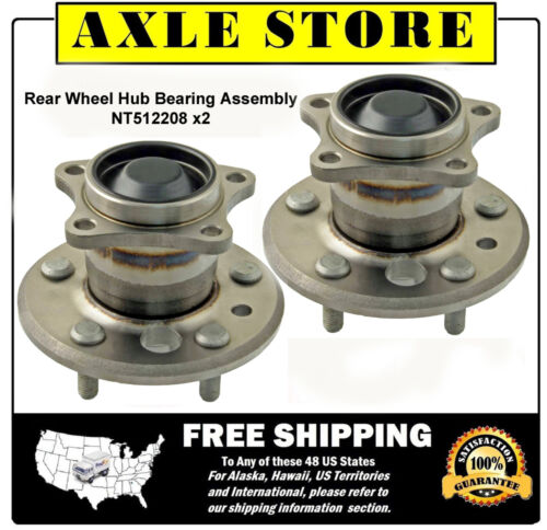 2 DTA Rear Wheel Hub Bearing Assemblies 02-09 Toyota Camry w//o ABS Pair NT512208