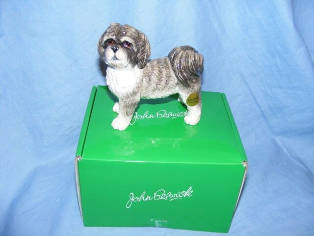 Ex Showroom Display John Beswick Shih Tzu Grey Dog Figurine