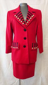 "Anzug Vintage Jahre 1980 ""rot"" - Givenchy Couture - (neu) - T.38 GroßE Vielfalt"