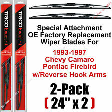 "93-97 Camaro Firebird Reverse-Hook Wiper Blades Set Of 2 - 24"" Trico 24-9R (x2)"