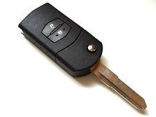 Mazda 2 3 5 6 2 Button Flip Remote Key Fob Case + Blank Right Blade Key