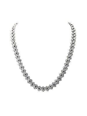 Belle Noel by Kim Kardashian Vintage Glamour Pave Necklace