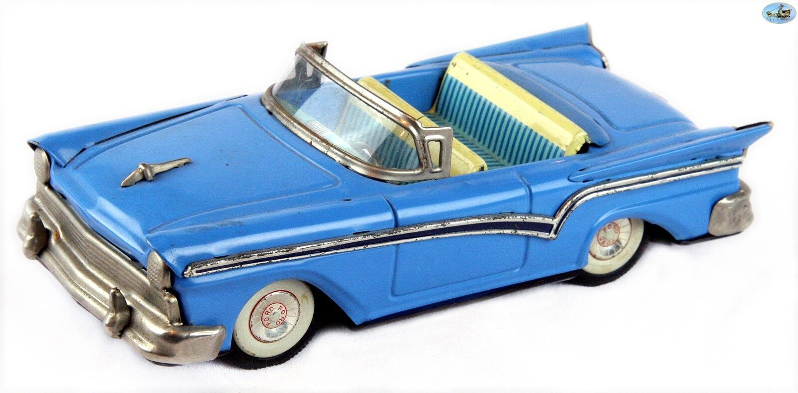 SUPERBE 1957 Vintage JAPAN HAJI TOY FORD FAIRLANE 500 Convertible voiture