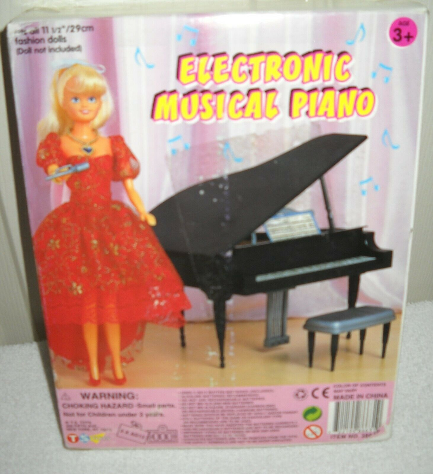 10322 NRFB TS Toys Electronic Muscial Piano for 11 1 2  Fashion Dolls