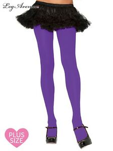 83e01be61ee64 Image is loading Leg-Avenue-PURPLE-PANTYHOSE-costume-tights-stockings-60s-
